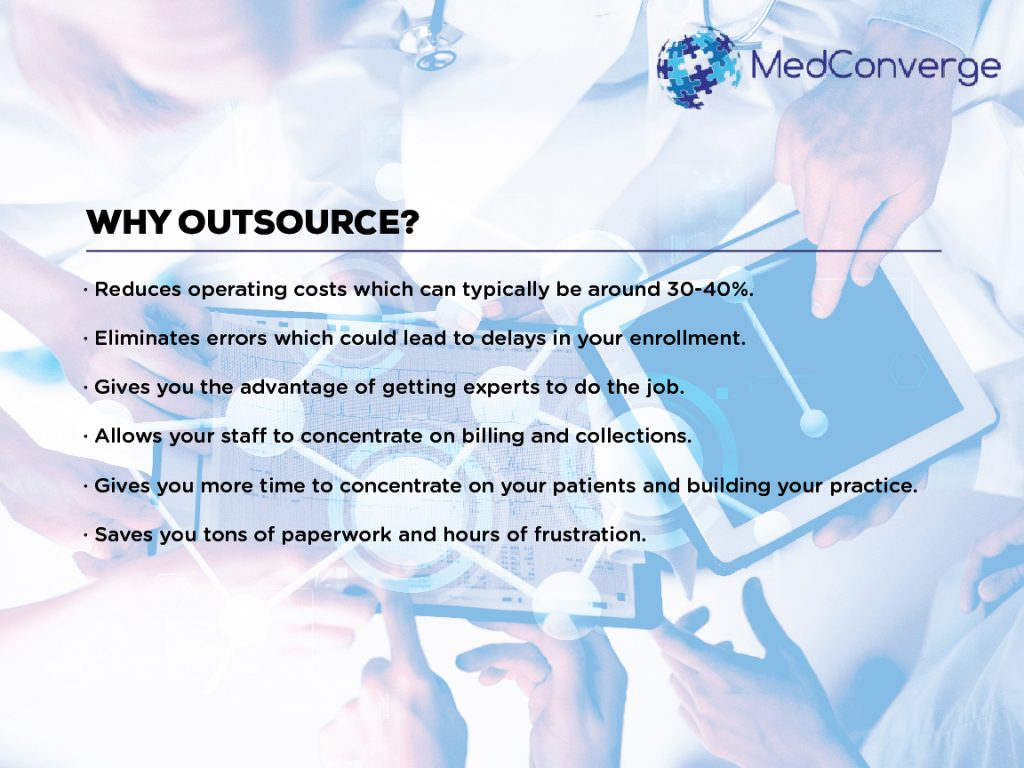 02 Benefits of Outsourcing Provider Credentialing And Enrollment Services_MedConverge 04-22-16