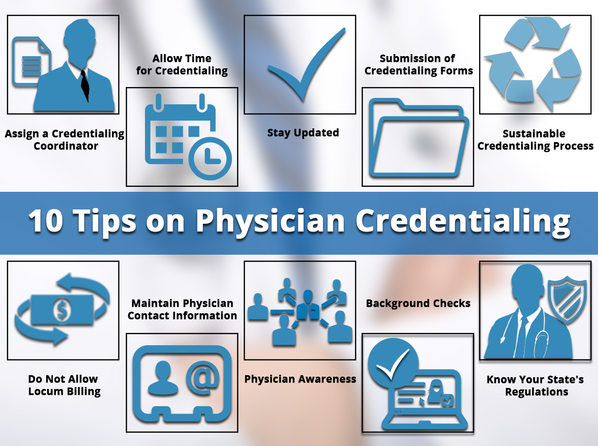 10 tips on physician credentialing